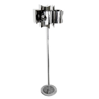 Chrome Floor Lamp Space Age