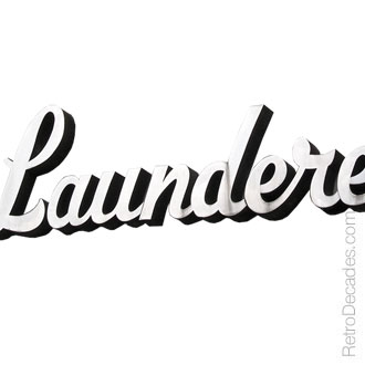 Launderette Sign