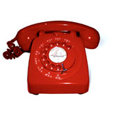 Red GPO 746 Dial Telephone